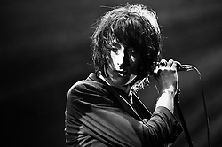 © Licensed to London News Pictures. 08/03/2012. London, UK. The Horrors perform live at Alexandra Palace, supporting Florence and the Machine. Photo credit : Richard Isaac/LNP