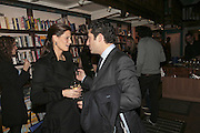 Julia Baumhoff and Luca del Bono, Book launch of Pretty Things by Liz Goldwyn at Daunt <br />
