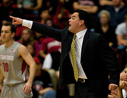 February 27, 2010; Stanford, CA, USA;  Arizona Wildcats head coach Sean Miller during the first half against the Stanford Cardinal at Maples Pavilion. Arizona defeated Stanford 71-69.