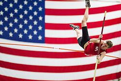 Bowdoin Indoor 4-way track meet: mens pole vault