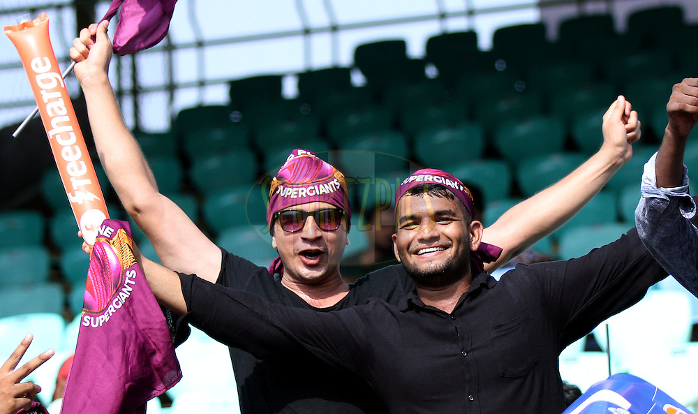 Fans enjoy during match 53 of the Vivo IPL 2016 (Indian Premier League) between Rising Pune Supergiants and the Kings XI Punjab held at the ACA-VDCA Stadium, Visakhapatnam on the 21st May 2016<br /> <br /> Photo by Sandeep Shetty / IPL/ SPORTZPICS