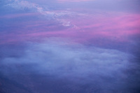 Aerial Sunrise Over Sierra Nevada Mountains in Winter, California
