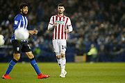 Sheffield United forward Gary Madine (14) during the EFL Sky Bet Championship match between Sheffield Wednesday and Sheffield United at Hillsborough, Sheffield, England on 4 March 2019.