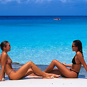Women relaxing at the beach..Cozumel, Q.Roo. Mexico.