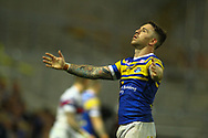 Richie Myler of Leeds Rhinos looks upto the sky in frustration during the Betfred Super League match at Emerald Headingley Stadium, Leeds<br /> Picture by Stephen Gaunt/Focus Images Ltd +447904 833202<br /> 13/07/2018