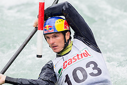 Peter Kauzer of Slovenia competes in Kayak K1 Men during ICF Kayak & Canoe Slalom race in Semifinal of Tacen 2014 competition on May 18, 2014 in Tacen, Ljubljana, Slovenia. Photo by Vid Ponikvar / Sportida