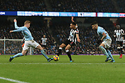 Jacob Murphy during the Premier League match between Manchester City and Newcastle United at the Etihad Stadium, Manchester, England on 20 January 2018. Photo by George Franks.