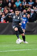 Melbourne City forward Bruno Fornaroli (23) controlling the ball at the FFA Cup quarter-final soccer match between Melbourne City FC and Western Sydney Wanderers FC at AAMI Park in Melbourne.