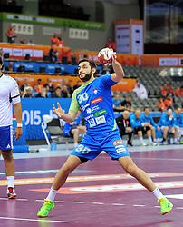 Dragan Gajic of Slovenia during handball match between National Teams of Slovenia and Chile at Day 2 of 24th Men's Handball World Championship Qatar 2015 on January 16, 2015 in Al Bin Hamad Al Attiya Arena, Doha, Qatar. Photo by Slavko Kolar / Sportida