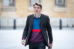 © Licensed to London News Pictures. 23/04/2017. London, UK. James Schneider, Head of Strategic Communications for Jeremy Corbyn, arriving at BBC Broadcasting House to appear on The Andrew Marr Show this morning. Photo credit : Tom Nicholson/LNP