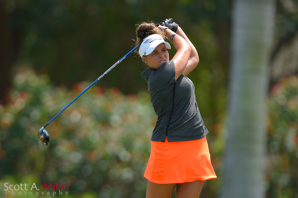 Natalie Sheary during the final round of the Chico's Patty Berg Memorial on April 19, 2015 in Fort Myers, Florida. The tournament feature golfers from both the Symetra and Legends Tours.<br /> <br /> &copy;2015 Scott A. Miller
