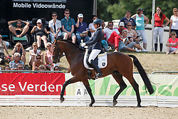 Wolf Stefanie, (GER), Rockman Royal NG<br /> First Qualifying Competition 5year old horses<br /> World Championship Young Dressage Horses - Verden 2015<br /> © Hippo Foto - Dirk Caremans<br /> 06/08/15