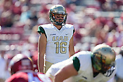 FAYETTEVILLE, AR - OCTOBER 25:  Jeremiah Briscoe #16 of the UAB Blazers looks over the defense during a game against the Arkansas Razorbacks at Razorback Stadium on October 25, 2014 in Fayetteville, Arkansas.  The Razorbacks defeated the Blazers 45-17.  (Photo by Wesley Hitt/Getty Images) *** Local Caption *** Jeremiah Briscoe