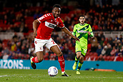 Middlesbrough midfielder Mikel John Obi (2) in action  during the EFL Sky Bet Championship match between Middlesbrough and Norwich City at the Riverside Stadium, Middlesbrough, England on 30 March 2019.