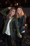 CARA DELEVIGNE; SUKI WOODHOUSE; ;;  The Vogue Festival 2012 in association with Vertu- cocktail party. Royal Geographical Society. Kensington Gore. London. SW7. 20 April 2012.