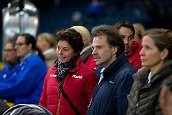 THEODORESCU Monica (Bundestrainer Dressur), BECKS Christian<br /> Stuttgart - German Masters 2018<br /> Siegerehrung<br /> Grand Prix de Dressage<br /> Piff Förderpreis Finalprüfung<br /> 16. November 2018<br /> © www.sportfotos-lafrentz.de/Stefan Lafrentz