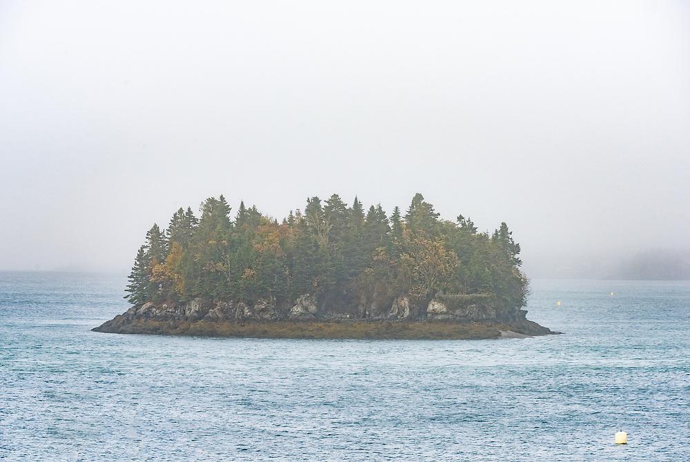 Foggy morning in Passamaquoddy Bay, Lubec, Maine