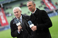 Luis FERNANDEZ / Eric Roy / JOURNALISTE ET CONSULTANTS BE IN SPORTS  - 10.04.2015 - Caen / Monaco - 32e journee Ligue 1<br />
