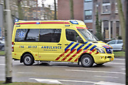 Nederland, Nijmegen, 15-2-2018Ambulance op weg naar een ongeluk om eerste hulp te bieden. FOTO: FLIP FRANSSEN