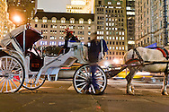 horse cars, Grand army plaza and fifth avenue, and Crowne building  New York, Manhattan - United states  NYC56998 /// caleches sur Grand army plaza et la cinquieme avenue, et le Crowne building dore  Manhattan, New York - Etats-unis  /// NYC059CPL09