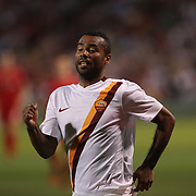 Ashley Cole, AS Roma, in action during the Liverpool Vs AS Roma friendly pre season football match at Fenway Park, Boston. USA. 23rd July 2014. Photo Tim Clayton