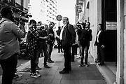 Michele Emiliano dopo la votazione per il referendum sulla durata delle concessioni per i giacimenti di petrolio e gas, Bari 17 aprile 2016. Christian Mantuano / OneShot