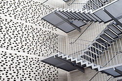 Exterior stairway of modern Kolumba religious museum in central Cologne Germany