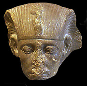 Head of King Sesostris 111 1862-1843 BC (12th Dynastic) sandstone
