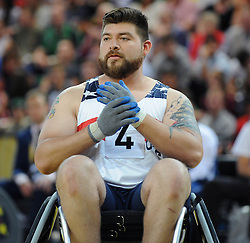 Daniel Hendrix of USA - Photo mandatory by-line: Dougie Allward/JMP - Mobile: 07966 386802 - 12/09/2014 - The Invictus Games - Day 2 - Wheelchair Rugby - London - Copper Box Arena