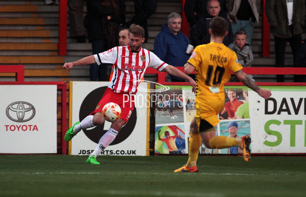 Stevenage No 5 Fraser Franks in the Sky Bet League 2 match between Stevenage and Bristol Rovers at the Lamex Stadium, Stevenage, England on 19 April 2016. Photo by Nigel Cole.