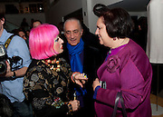 ZANDRA RHODES; DAVID SASSOON; SUSY MENKES,  My favorite dress book launch hosted by Susy Menkes and Zandra Rhodes. Fashion Museum. London. In Support of Save the Children. 11 January 2010