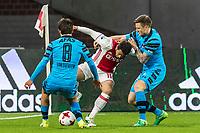 AMSTERDAM - 05-04-2017, Ajax - AZ, Stadion Arena, AZ speler Joris van Overeem, Ajax speler Amin Younes, AZ speler Mattias Johansson