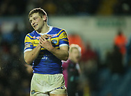Jimmy Keinhorst of Leeds Rhinos celerbrates scoring his 2nd try  against Hull Kingston Rovers during the Betfred Super League match at Elland Road, Leeds<br /> Picture by Stephen Gaunt/Focus Images Ltd +447904 833202<br /> 08/02/2018