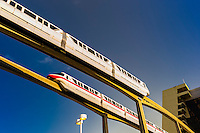 Monorail at Contemporary Resort, Magic Kingdom, Walt Disney World, Orlando, Florida USA
