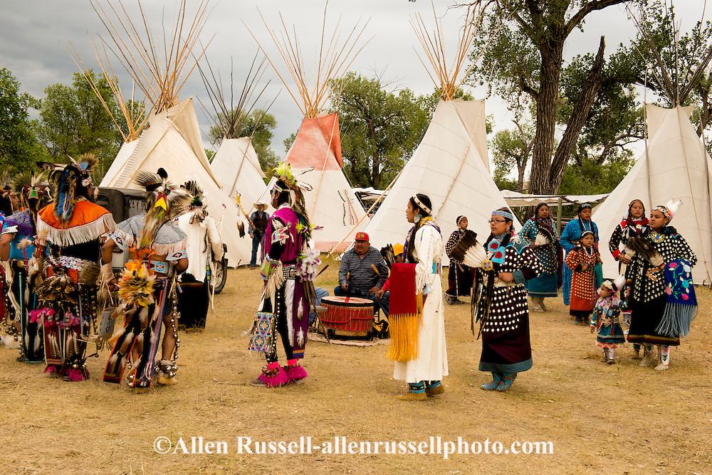 Parade Dance, closing day, Crow Fair, Crow Indian Reservation, Montana