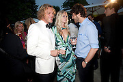 PETER DUNDAS; POPPY DELEVIGNE; ROBERT KONJIC, The Summer party 2011 co-hosted by Burberry. The Summer pavilion designed by Peter Zumthor. Serpentine Gallery. Kensington Gardens. London. 28 June 2011. <br /> <br />  , -DO NOT ARCHIVE-© Copyright Photograph by Dafydd Jones. 248 Clapham Rd. London SW9 0PZ. Tel 0207 820 0771. www.dafjones.com.