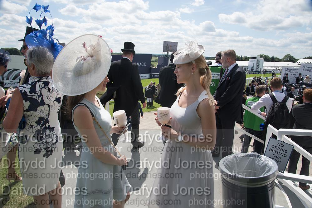 LARA CONWAY-WATES; LUCY ROSSITER, Investec Derby, Epsom. June 2 2018