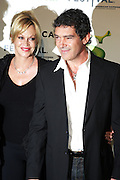 "21 April 2010- New York, NY- l to r: Melanie Griffinth and Antonio Banderas at The World Premiere of Dreamwork Animation's "" Shrek Forever After "" for the Opening Night of the 2010 Tribeca Film Festival held at the Zeigfeld Theater on April 21, 2010 in New York City."
