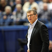 HARTFORD, CONNECTICUT- JANUARY 10: Head coach Geno Auriemma of the Connecticut Huskies on the sideline during the the UConn Huskies Vs USF Bulls, NCAA Women's Basketball game on January 10th, 2017 at the XL Center, Hartford, Connecticut. (Photo by Tim Clayton/Corbis via Getty Images)