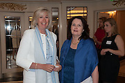 DEBBIE FRANCIS; ARABELLA VAN NIEKERK;  The Foreign Sisters lunch sponsored by Avakian in aid of Cancer Research UK. The Dorchester. 15 May 2012