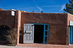Adobe style building for Old Town Antiques store, Albuquerque, New Mexico, United States of America