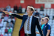 Stevenage Manager Teddy Sheringham during the Sky Bet League 2 match between Stevenage and York City at the Lamex Stadium, Stevenage, England on 12 September 2015. Photo by Simon Davies.