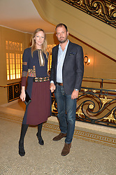 JADE PARFITT and JACK DYSON at the Sindika Dokolo Art Foundation Dinner held at The Cafe Royal, Regent Street, London on 18th October 2014.