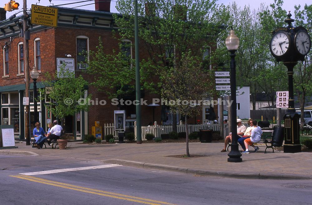 Street scene in Loveland, Ohio.