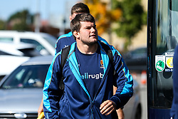 Ryan Bower of Worcester Warriors arrives at Sandy Park for the Premiership fixture against Exeter Chiefs - Mandatory by-line: Robbie Stephenson/JMP - 29/09/2018 - RUGBY - Sandy Park Stadium - Exeter, England - Exeter Chiefs v Worcester Warriors - Gallagher Premiership Rugby