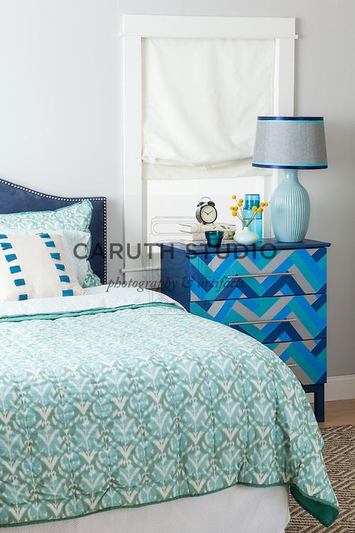 One Dresser Three Ways: Blue Bedroom overall