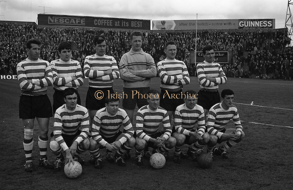 25/04/1965<br /> 04/25/1965<br /> 25 April 1965<br /> F.A.I. Cup Final: Shamrock Rovers v Limerick at Dalymount Park, Dublin. The Shamrock Rovers team.