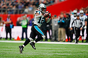 Carolina Panthers Wide Receiver D. J. Moore (12) catches a pass during the International Series match between Tampa Bay Buccaneers and Carolina Panthers at Tottenham Hotspur Stadium, London, United Kingdom on 13 October 2019.