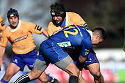 Ralph Darling of North Otago runs into contact during the Ranfurly Shield match between Otago and North Otago, held at Whitestone Contracting Stadium, Oamaru, New Zealand, 26 July 2019. Credit: Joe Allison / www.Photosport.nz