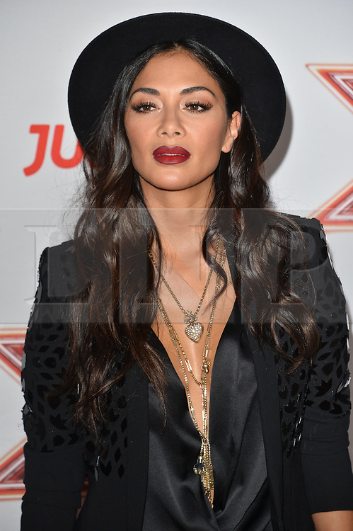 © Licensed to London News Pictures. 30/08/2017. London, UK.  NICOLE SCHERZINGER attends the launch of ITV's The X Factor series. Photo credit: Ray Tang/LNP